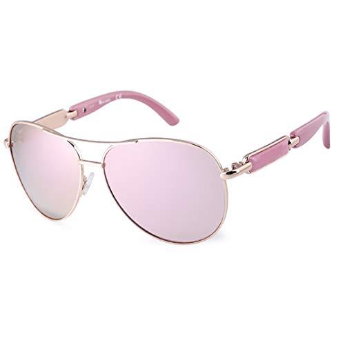 Aviator Sunglasses for Women Metal Frame Polarized Sunglasses ()