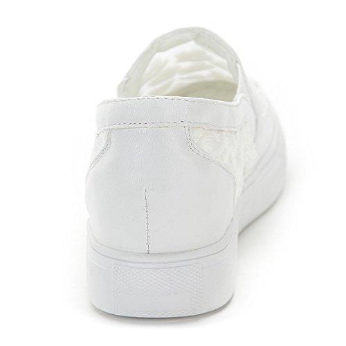 Premium Walking Shoes White Platform Town loafers Casual No Mesh 66 Women's qtnBF