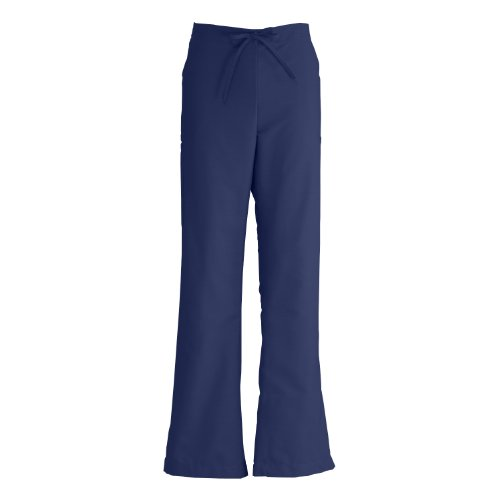 Medline ComfortEase Petite Ladies Modern Fit Scrub Pant, Med, Midnight Blue