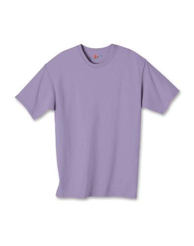 Hanes boys Cotton T-Shirt(5450)-Lavender-XL