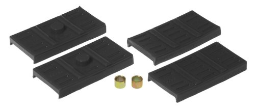 (Prothane 7-1707-BL Black Rear Upper and Lower Mono Leaf Spring Pad Kit )