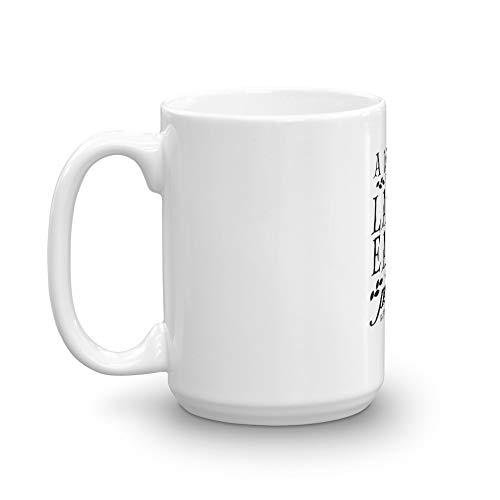 rangerpolocon A Wizard is Never Late 15Oz Ceramic Coffee Mugs Cup Tea Easy Grip Handle ()