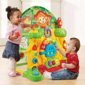 The Grow u0026 Discover Tree House provides a variety of activities to stimulate toddlers senses and help develop important motor skills.  sc 1 st  Amazon.com & Amazon.com: VTech Grow and Discover Tree House Toy Tent: Toys u0026 Games