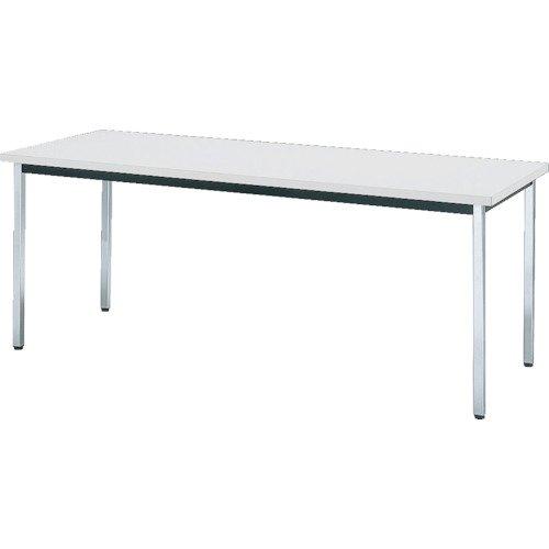 トラスコ中山 TRUSCO 会議用テーブル 900X900XH700 角脚 下棚無し ホワイト B079Z2C5VS