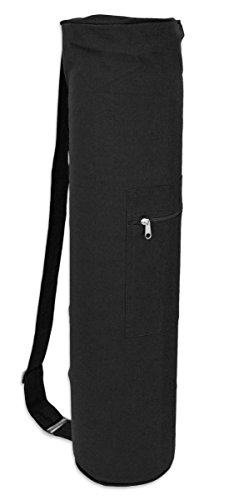YogaAccessories Cotton Zippered Yoga Mat Bag