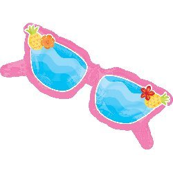 1 XXL 37inch party BALLOON new PINK SUNGLASSES fun in the sun BEACH pool FAVORS birthday ANY OCCASION garden by - Sunglasses Any