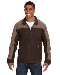 - Dri-Duck Horizon Two-Tone Cotton Canvas Jacket. 5089 - X-Large - Tobacco / Field Khaki