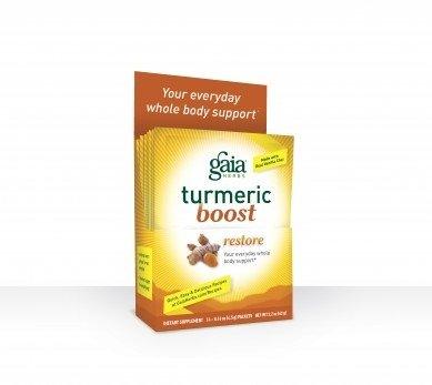 Cheap Gaia Herbs Turmeric Boost Restore 14 Pkts – 0.16oz(4.5g)PACKETS