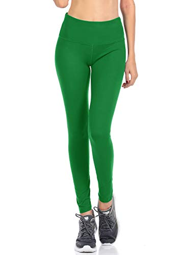 (VIV Collection Signature Leggings Yoga Waistband Soft w Hidden Pocket (XXXL, Green))