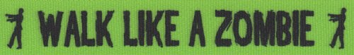 Country Brook Design 7/8 Inch Green Walk Like a Zombie Grosgrain Ribbon Closeout, 5 (Skeleton Print Out Halloween)