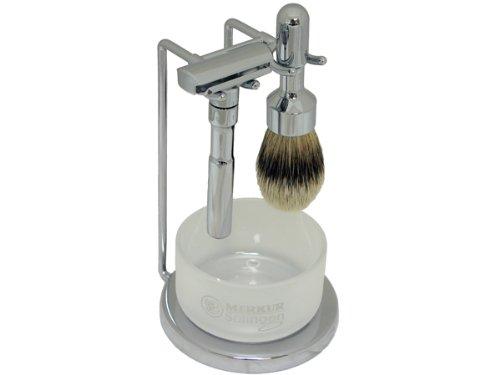 Merkur Futur 4-Piece Shaving Set, Polished Finish by Merkur