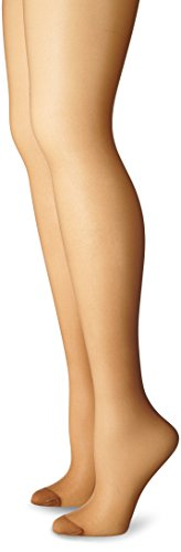 Just My Size Women's Smooth Finish Regular Reinforced Toe Panty Hose Eco, Suntan, (Pantyhose Sizes)