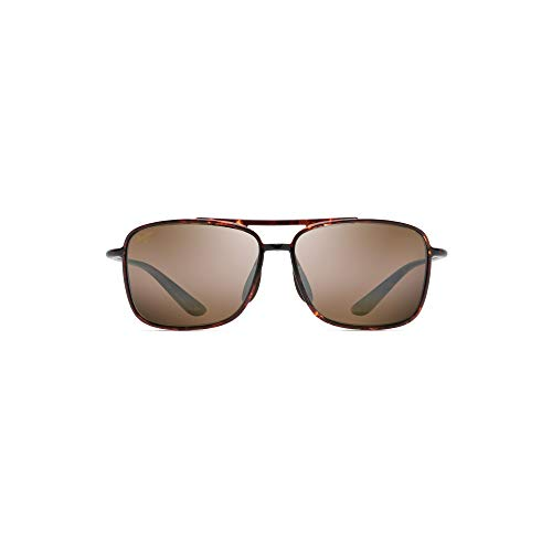 Maui Jim  Sunglasses | Kaupo Gap H437-10 | Tortoise Aviator Frame, Polarized HCL Bronze Lenses, with Patented PolarizedPlus2 Lens Technology ()