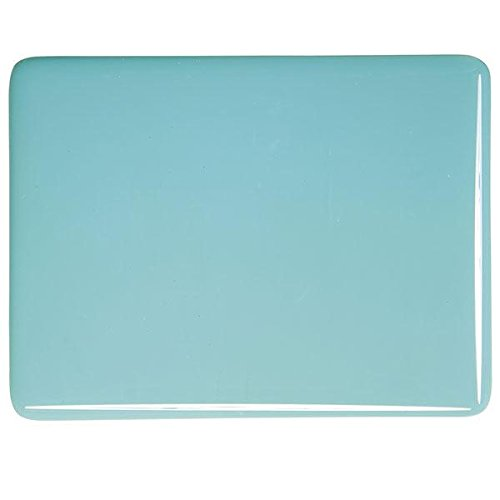 Turquoise Blue Opalescent Coarse Fusible Glass Frit 90COE 4oz Made From Bullseye Glass