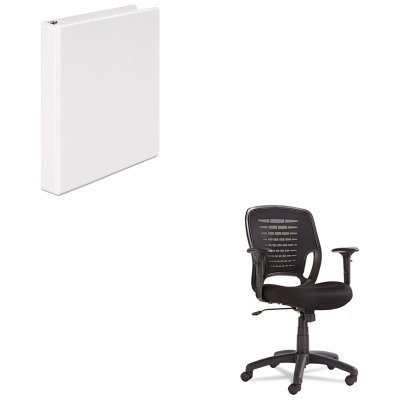 KITOIFEM4817UNV20962 - Value Kit - Oif Swivel/Tilt Mesh Task Chair (OIFEM4817) and Universal Round Ring Economy Vinyl View Binder (UNV20962)