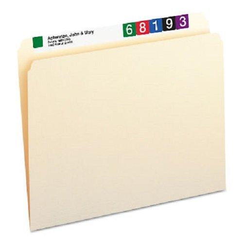 Single Top Manila Folders - Smead 10300 File Folders Straight Cut One-Ply Top Tab Letter Manila 100/Box