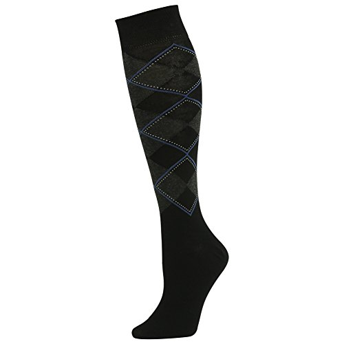 SUTTOS Men's Women's Youth Classics Black Grey Argyle Nordic Striped Fashionable Pattern Knee High Long Tube Extra Fine Combed Cotton Blend Gift Socks,4 Pairs