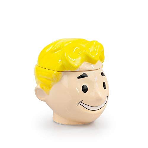 JUST FUNKY Fallout Official Vault Boy Face Molded Decorative Ceramic Jar, 6 oz