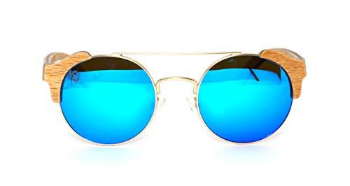 Óculos De Sol De Madeira E Metal Anna Blue, MafiawooD
