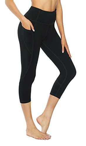 f66c7c22339b5 Persit Yoga Pants for Women High Waisted Workout Capri Leggings with Pockets  Athletic Gym Yoga Leggings