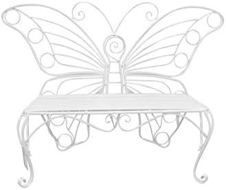 Hi-Line Gift Ltd Garden D cor Butterfly Bench