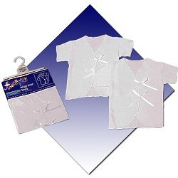 6 Pcs Wrap Over Vests White 100 Combed Cotton Sizes 0 3 Months