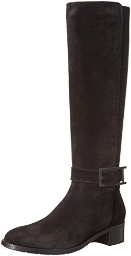 Aquatalia Women's Orella Suede Riding Boot - Black - 6 B(...