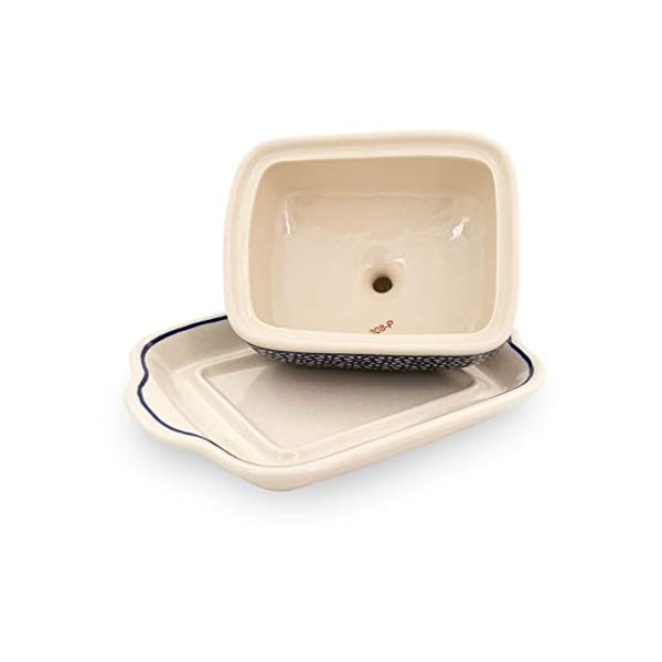 Bunzlauer Butter Dish for 250 g, Height 10.5 cm, Diameter 20.0 cm Decoration 120