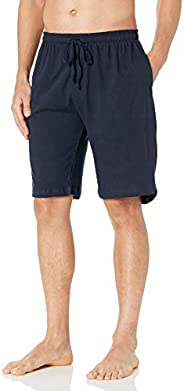Essentials by Seven Apparel Mens Solid Cotton Knit Short Pajama Bottoms