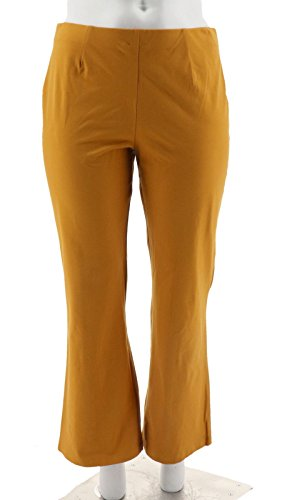 Women with Control Hollywood Waist Pants Seam A218916, Mustard, PXL - Hollywood Waist Pants