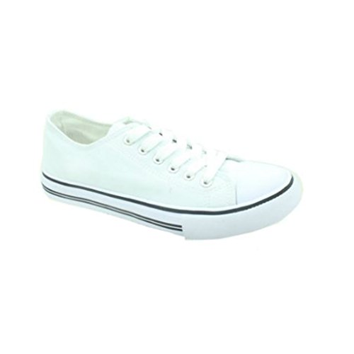 Pierre Dumas Womens Logan-1 Fashion Sneakers (8, White)