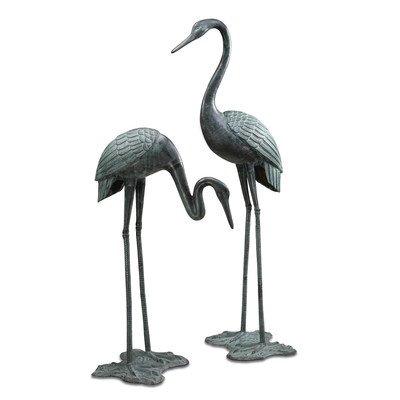 Spi Home Crane - SPI Home 33242 Large Garden Crane Pair Sculpture