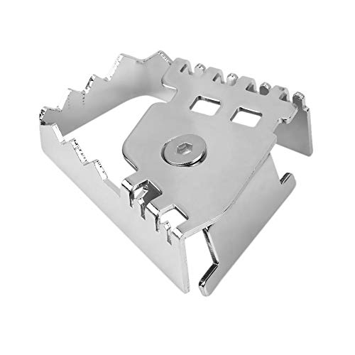 KIMISS Motorcycle Brake Pedal Enlarge Extension, Rear Foot Brake Lever Pedal Enlarge Extension Pad Extender for F800GS F700GS F650GS(Electroplating) (Motorcycle Brake Pedals)