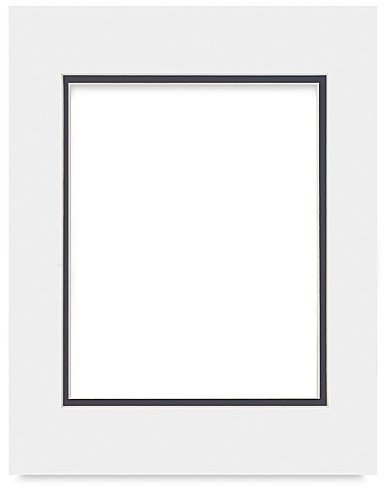(White on Black Double Photo Mat 28x40 for 24x36 Posters - Fits 28x40 Frame)