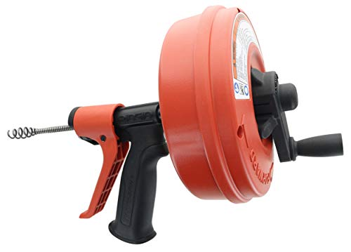 Ridgid GIDDS-813340 41408 Power Spin with AUTOFEED, Maxcore Drain Cleaner Cable, and Bulb Drain Auger to Remove Drain Clogs - Electric Drain Augers