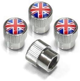 Union Jack British Flag Chrome Tire Stem Valve Caps for MINI