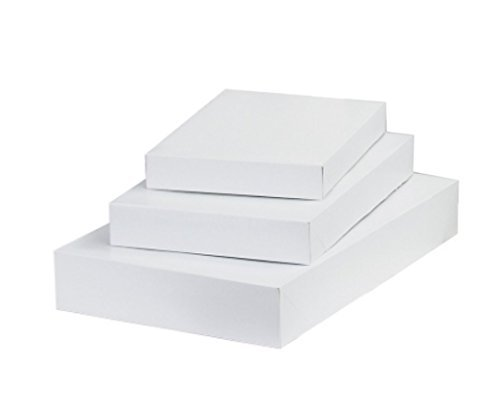 10 White Gift Boxes, 3 Sizes