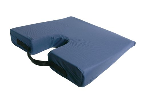 081918540017 - Improving Lifestyles Sloping Coccyx Cushion with Removable Cover Navy carousel main 0