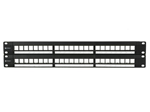 Networx 2U High-Density Blank Patch Panel - 48 Port (Patch Panel Jack)