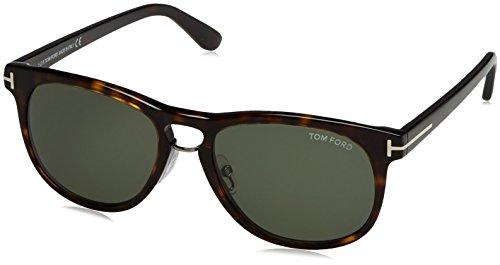 Tom Ford 56N Havana Fully Rimmedanklin - Brown Square Sunglasses Lens - Ford Franklin Tom