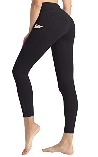 - Women High Waist Gym Leggings Butt Lift Workout Pant with Pocket Yoga Running Athletic Black 14