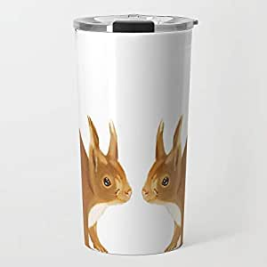 Society6 Squirrel Metal Travel Mug 15 oz