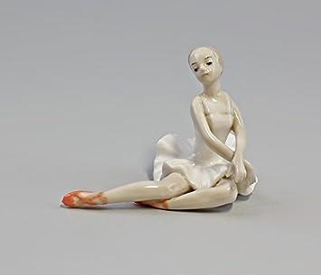 Porzellan Figur Ballerina Weiss Amazon De Kuche Haushalt