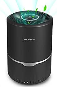 ComHoma Air Purifiers for Home HEPA Filter - 3-Stage Filtration Free Air Cleaner Removes Smoke Dust for Bedroo