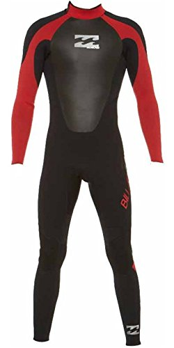 Billabong Intruder 4/3mm GBS Wetsuit in BLACK/RED G/O44M02 Sizes- - Small