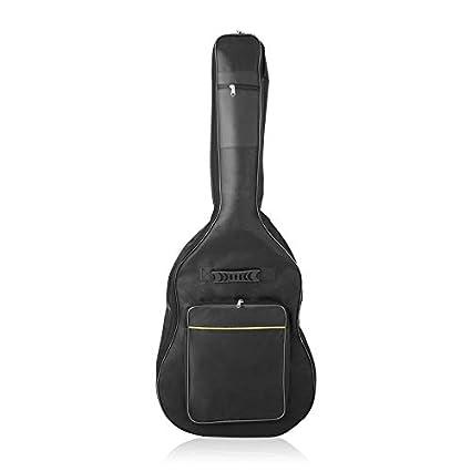 Wenwenzui-ES Funda Impermeable de Guitarra Gag Bag para Guitarra eléctrica Funda de Guitarra Negra