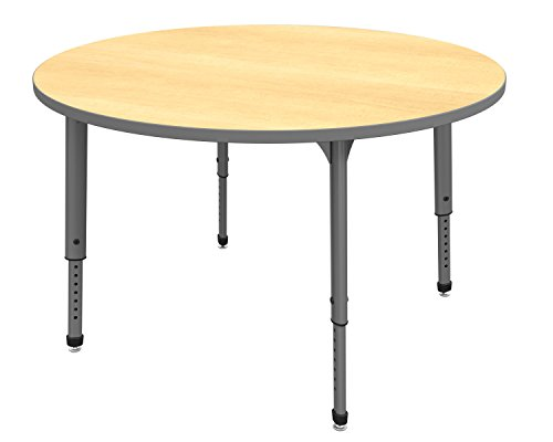 Marco Group 38-2266-61-GRY Apex Series Round Adjustable Table, 48