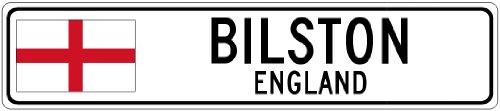 BILSTON, ENGLAND - Flag Aluminum City Sign