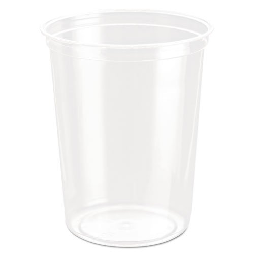 SOLO Cup Company DM32R Bare Eco-Forward RPET Deli Containers, 32 Oz, Clear, Pack of 50 (Case of 10 Packs) by Solo Foodservice