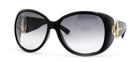 Plastic Gray Lens (GUCCI 2942/S 0D28 LF BLACK FRAME GRAY GRADIENT LENS PLASTIC SUNGLASSES)